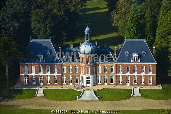 France, Eure, Le Landin, Chateau du Landin (aerial view)