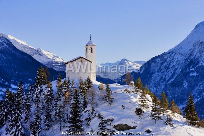 France, Savoie, Parc National de La Vanoise, Montvalezan, Chatelard Hamlet, St Michel Chapel