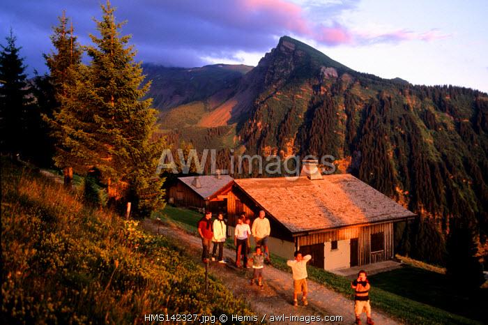 France, Haute Savoie, Morzine, Zorres houses