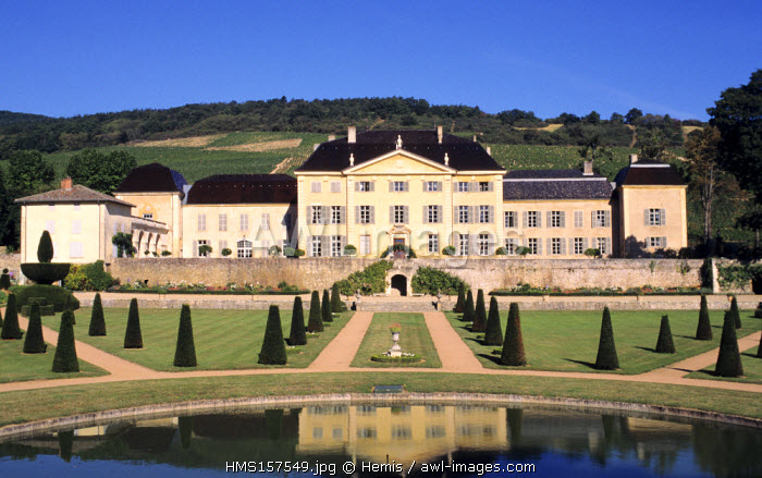 France, Rhone, Beaujolais, Odenas, Chateau de la Chaize