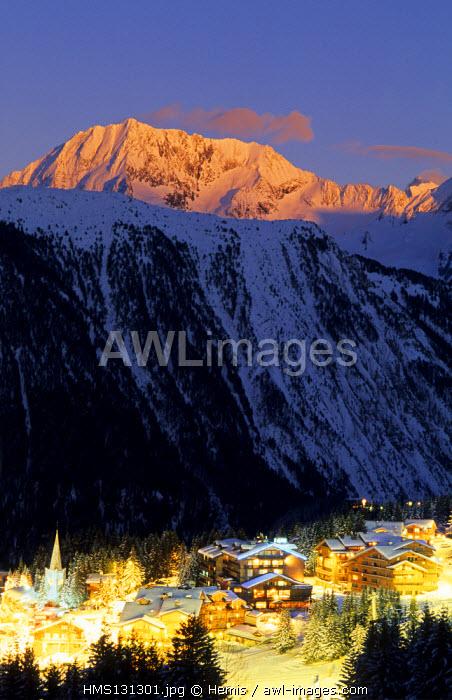 France, Savoie, Courchevel 1850 Trois Vallees Ski Resort, Skiing Area