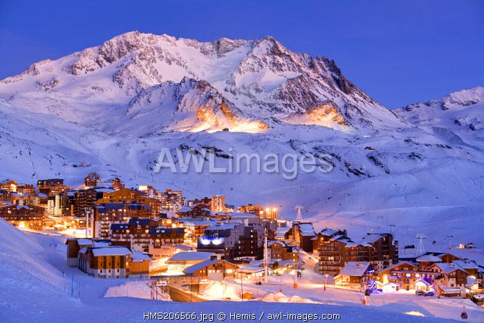 France, Savoie, Val Thorens, Aiguille de Peclet (3562m)