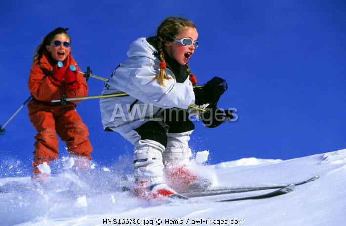 France, Savoie, skiing
