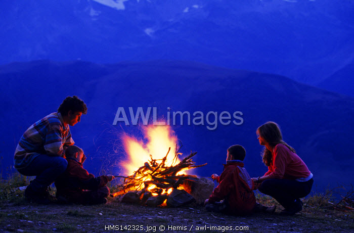 France, Savoie, Valmorel, by the Fireside