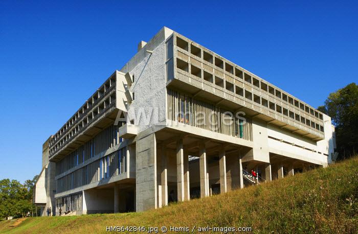 France, Rhone, Eveux sur Abresle, Sainte Marie de la Tourette Convent built by Le Corbusier in 1953