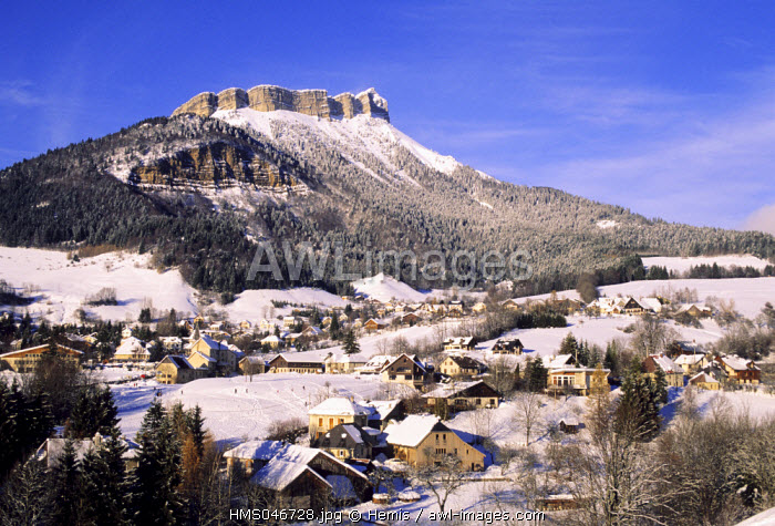 France, Isere, village of Le Sappey en Chartreuse at the bottom of Chamechaude in the Chartreuse natural regional park