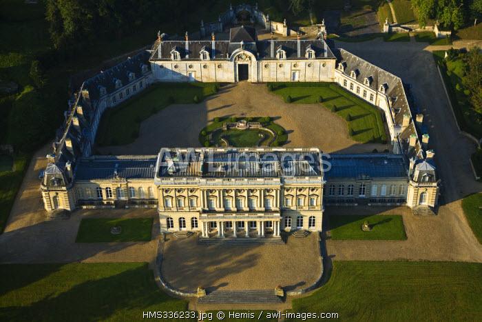 France, Eure, Vernon, Chateau de Bizy (aerial view)