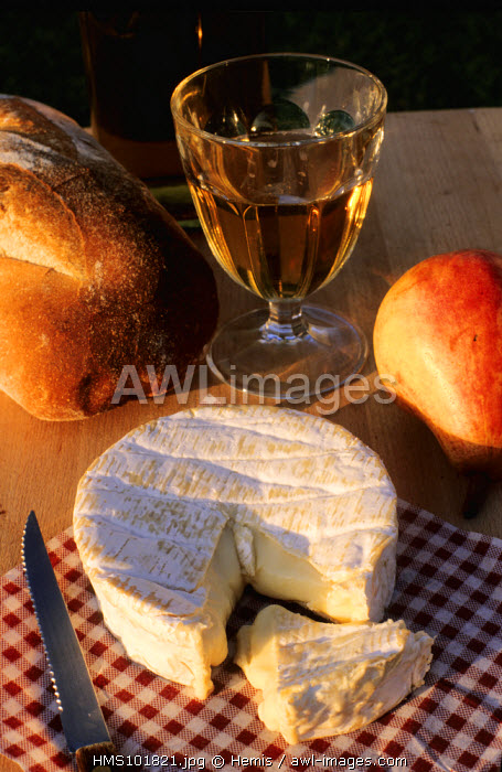 France, Seine Maritime, Camembert Cheese and Normandy Cider