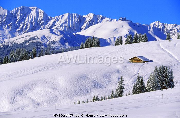France, Haute Savoie, Contamines montjoie ski resort