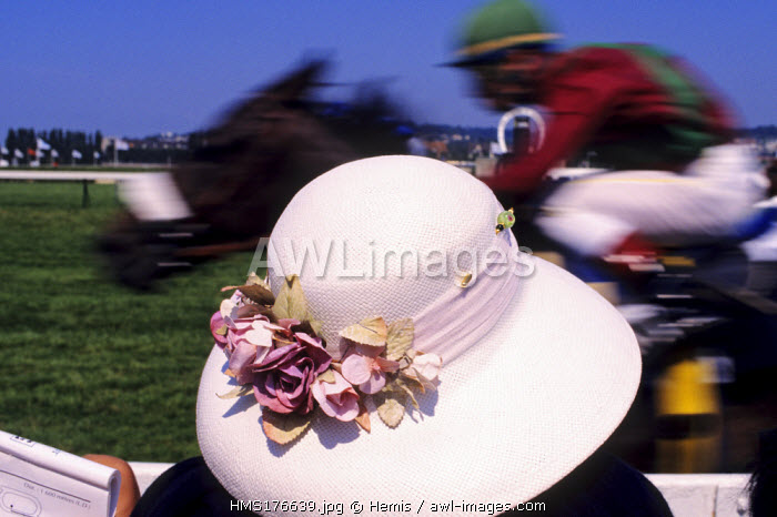 France, Calvados, Pays d'Auge, Deauville, Horse Racing