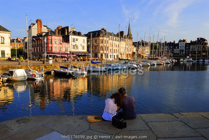 France, Calvados, Honfleur, the Old Basin, Saint Etienne Quay