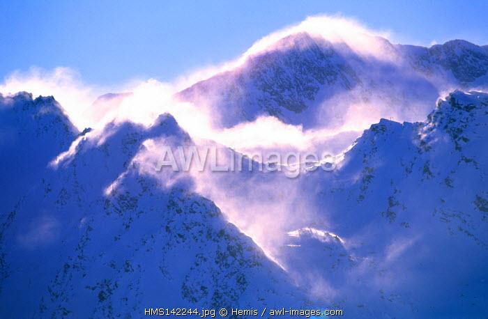 France, Savoie, La Vanoise massif, Peclet peak from Meribel