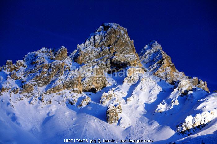 France, Savoie, Meribel, Dent de Burgin