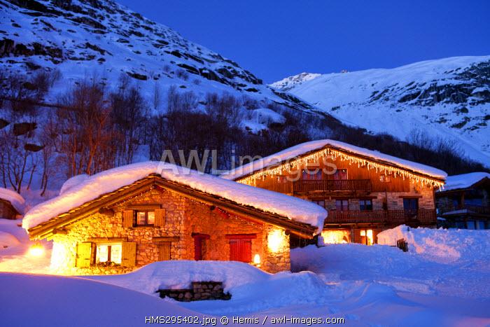 France, Savoie, Vanoise National Park, Bonneval sur Arc, labelled Les Plus Beaux Villages de France (The Most Beautiful Villages of France), the highest village of Haute Maurienne (1850 m)