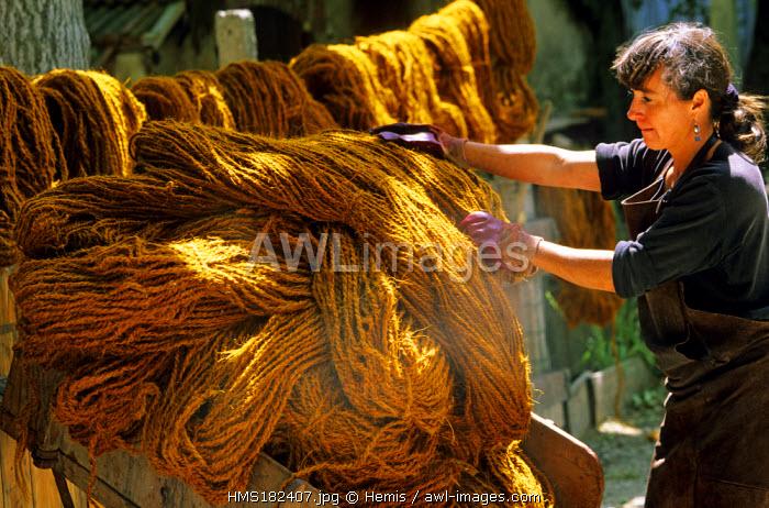 France, Drome, Nyons, la Scourtinerie, artisanal carpet, compulsory mention