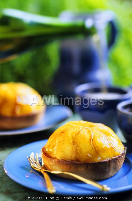 France, Calvados, Honfleur, mirliton of apples, Pascal Vuillemin's recipe, Chef of Saint Simeon farm