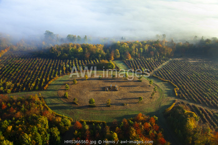 France, Eure, Vernon, park of castle of Bizy (aerial view)