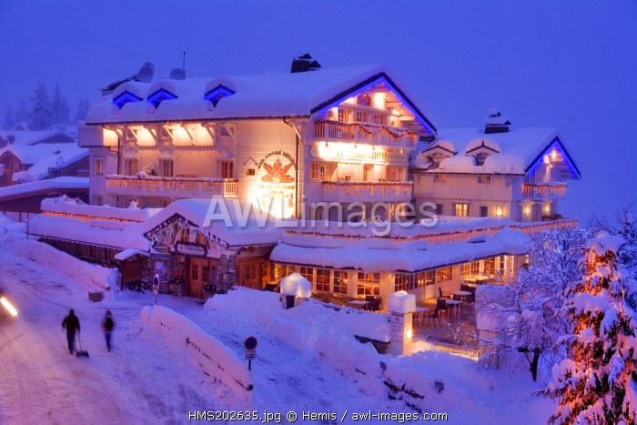 France, Savoie, Courchevel, Le Chabichou restaurant hotel