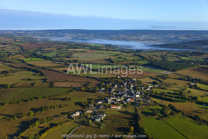 France, Orne, Normandie Maine natural regional Park, Gandelain (aerial view)