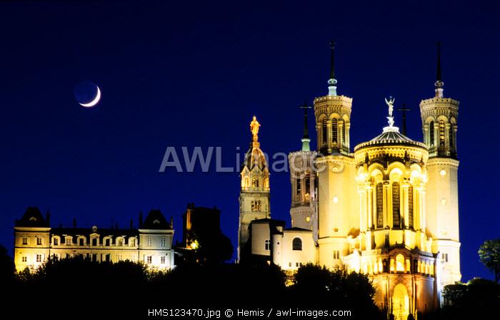 France, Rhone, Lyon, Notre Dame de Fourviere basilica