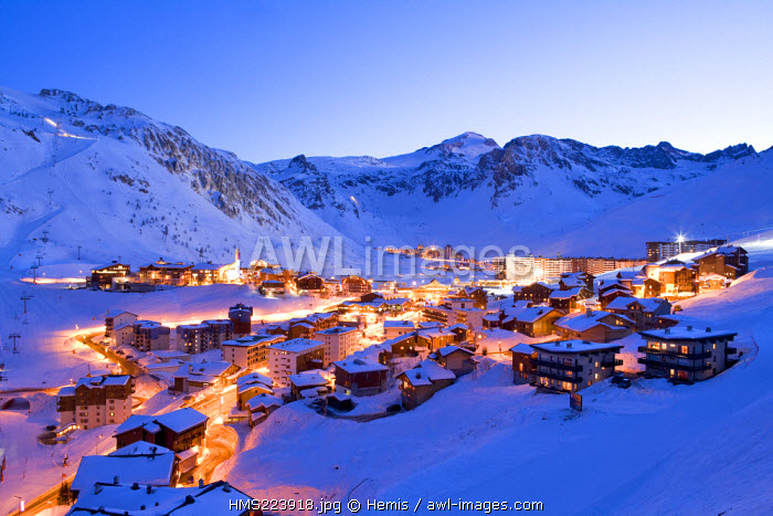 France, Savoie, Tignes and the Grande Motte in the background