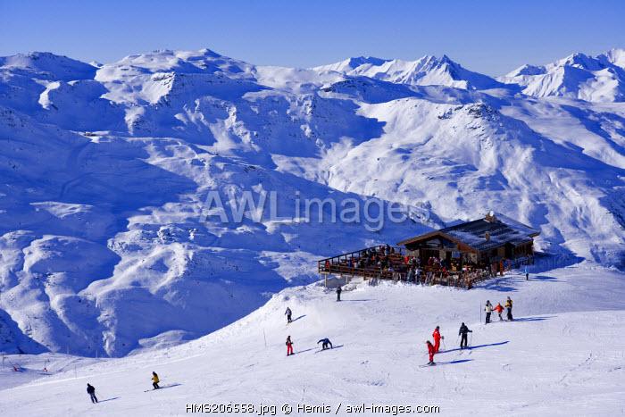 France, Savoie, Les Menuires, L' Alpage Mountain Restaurant