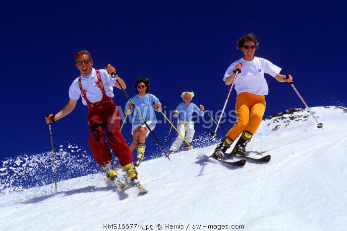 France, Savoie, ski in summer