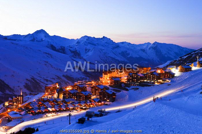 France, Savoie, Vallee des Bellevilles (Bellevilles Valley), Les Menuires