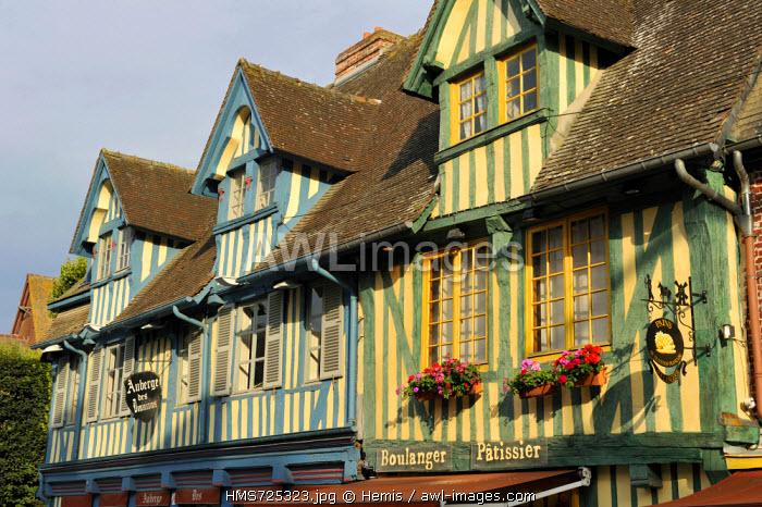 France, Calvados, Pays d'Auge, Pont l'Eveque, Vaucelles, old district