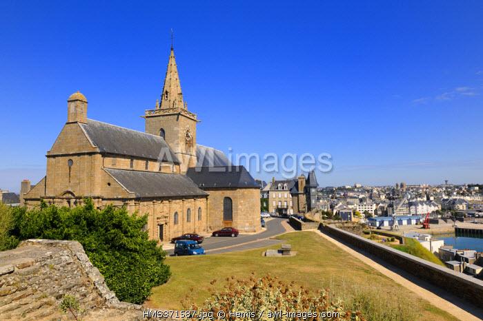 France, Manche, Cotentin, Granville, Upper town, Notre Dame de Cap Lihou Church