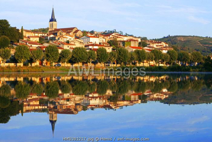 France, Loire, Saint Pierre de Boeuf, artificial lake on the Rhone River