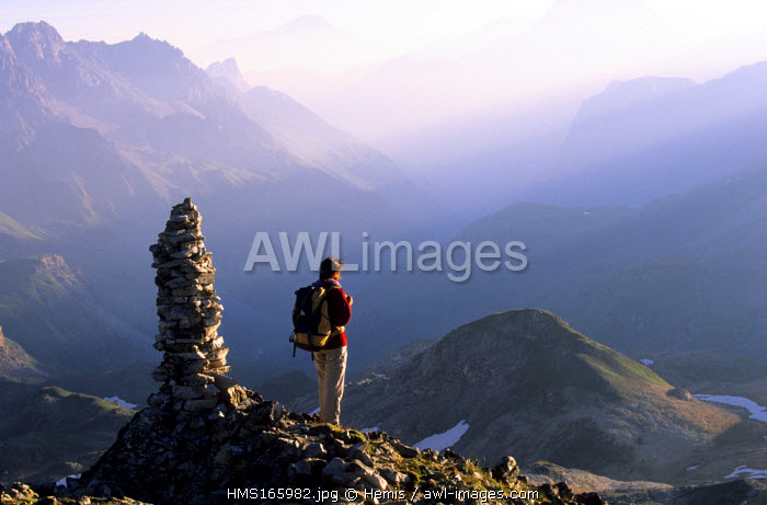 France, Savoie, Vanoise National Park, pass of Chaviere (2796m)