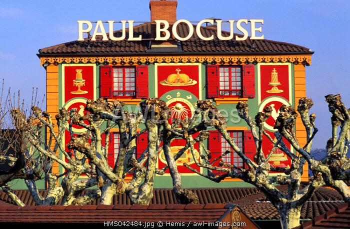 France, Rhone, Collonges, Lyon, Mont d'Or, Paul Bocuse's restaurant