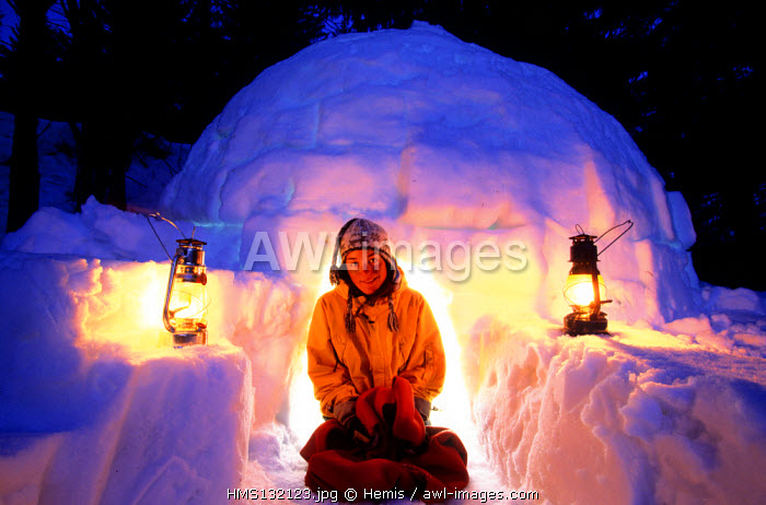 France, Savoie, igloo in Valmorel