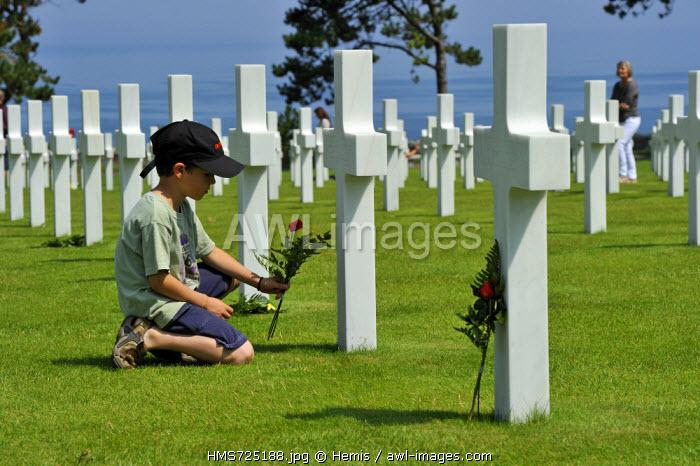 France, Calvados, Colleville sur Mer, Omaha Beach, Normandy American cemetery