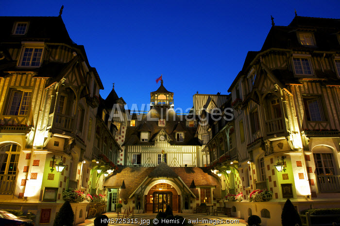 France, Calvados, Pays d'Auge, Deauville, Hotel Normandy from Barriere group