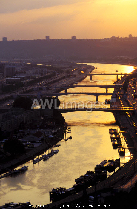 France, Seine Maritime, Normandy region, Rouen city, Seine river and harbour