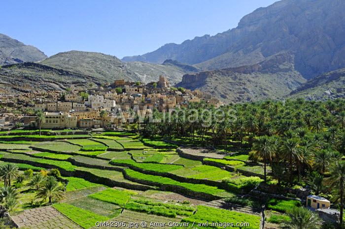 Oman, Dakhiliyah Governate, Jebel Hajar, Balad Sayt (aka Bilad Sayt). The ancient and remote village of Balad Sayt lies deep in the Jebel Hajar.
