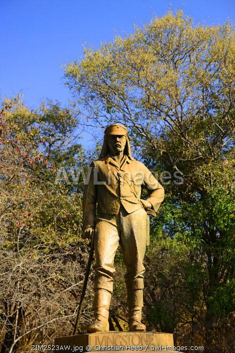 Statue of David Livingstone, Zambezi River, near Victoria Falls, Zimbabwe, Africa