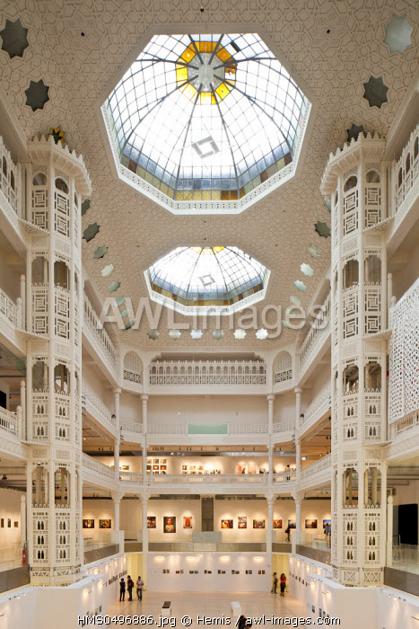 Algeria, Algiers, MAMA Modern and Contemporary Art Alger Museum installed in Galeries Algeriannes old department store built in 1914 by architect Henri Petit, Neo Mauresque architecture