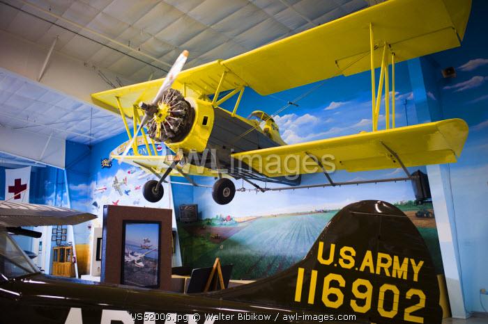 USA, North Dakota, Fargo, Fargo Air Museum, crop duster aircraft