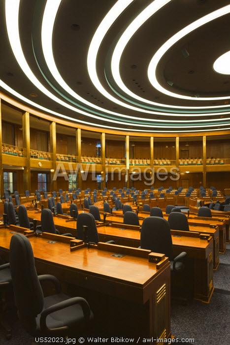 USA, North Dakota, Bismarck, North Dakota State Capitol, Chamber of the House of Representatives