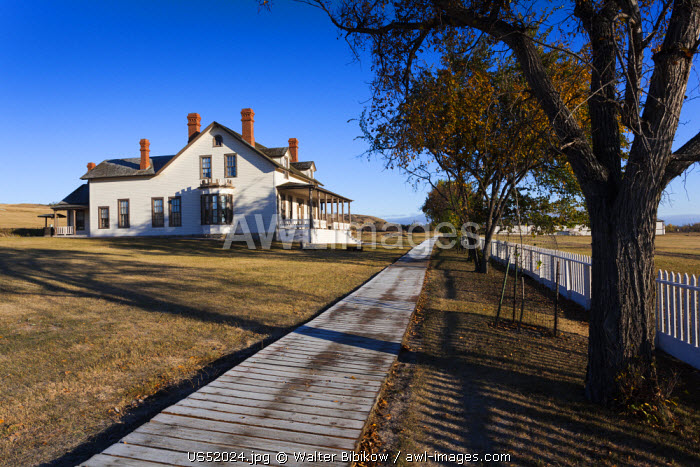 USA, North Dakota, Mandan, Fort Abraham Lincoln State Park, Custer House, residence of Lt. Col George Custer at the time of his defeat at the Battle of Little Big Horn