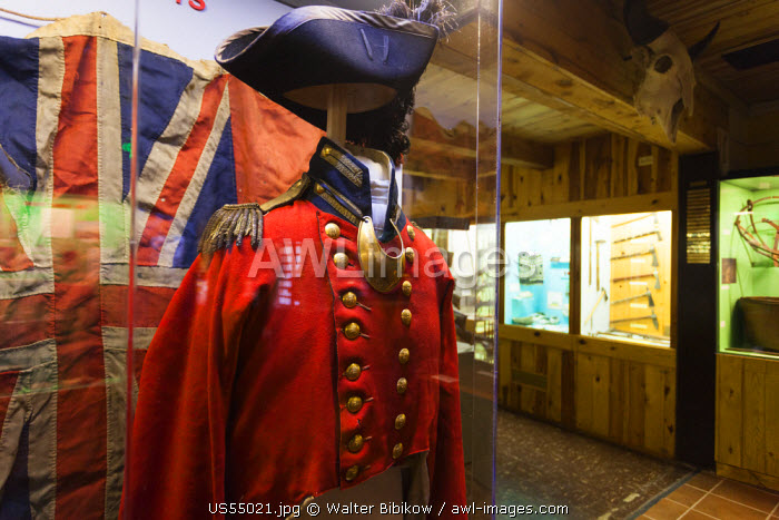 USA, Nebraska, Chadron, Museum of the Fur Trade, early 19th century British military uniform