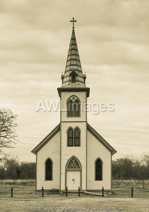 USA, Nebraska, Grand Island, Stuhr Museum of the Prairie Pioneer, village church