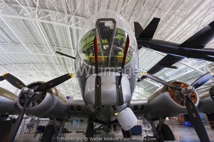 USA, Nebraska, Ashland, Strategic Air & Space Museum, B-17 bomber and U-2 spyplane
