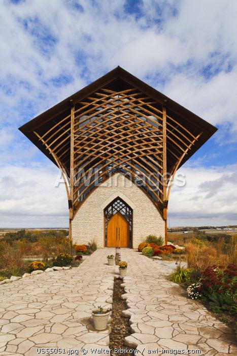 USA, Nebraska, Gretna, The Holy Family Shrine chapel