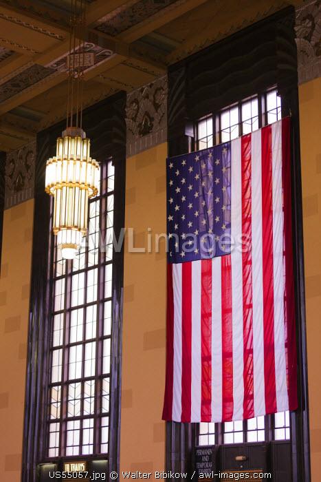 USA, Nebraska, Omaha, The Durham Museum, city museum in 1931 Union Railroad Station, main lobby