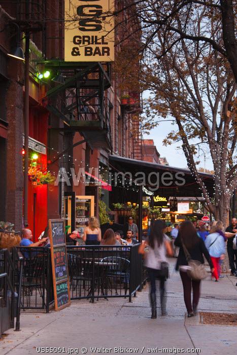 USA, Nebraska, Omaha, buildings in the Old Market area