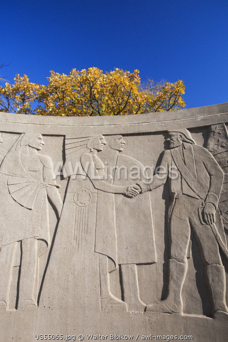 USA, Iowa, Council Bluffs, Lewis and Clark Monument